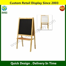 Children's Free Standing Wood Chalkboard Easel, Whiteboard & Drawing Paper Dispenser Combo YM5-739