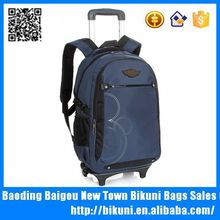 Trolley travel school laptop backpack with wheels in high quality