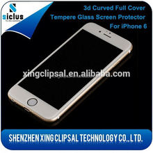 Self-adhesive edge to edge otao 3d curved tempered glass screen protector for iphone 6