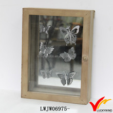 Mirrored Personalized Distressed Art Mind Handcraft Wooden Box