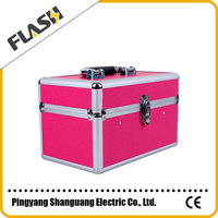 Popular High Quality Hot Sale Aluminum Beauty Box Custom Logo Brand Cosmetic Case with Lock