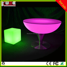 Outdoor garden party used LED light round table sale