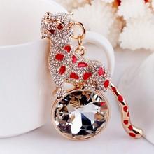 Leopard shaped metal keychain,Custom Keychain,custom diamond keyring