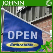 Good Quality Various Logo Polyester or PE Plastic Pole Mounted on the Wall Wall Flag