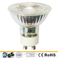 Factory sale 4W 350Lm 60degree Cheap Glass Ra>80 CE RoHS COB LED GU10 Dimmable