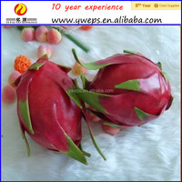 Factory price artificial fruit pitaya/Fake fruit peach model for decoration