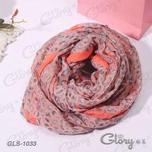 Great super soft voile leopard women scarf wrap