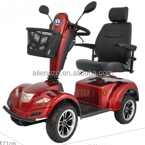 Four wheels electric vehicles for elderly and disabled for Motorized scooters for the elderly