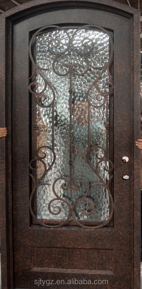 Entry Doors Type And Iron Door Material Pure Hand Forged Wrought