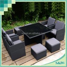 Wicker outdoor furniture Rattan corner sofa furniture /ratan garden furniture sectional sofa