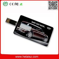 promotional super thin credit card usb flash drive, promotional usb flash memory card, shenzhen HT factory usb card maker