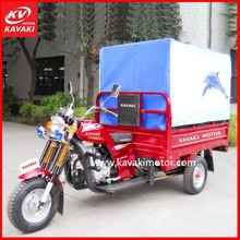 200cc New Three Wheel Motorcycle Red Hot Sale Electric Start With White Cabin Passenger Tricycle