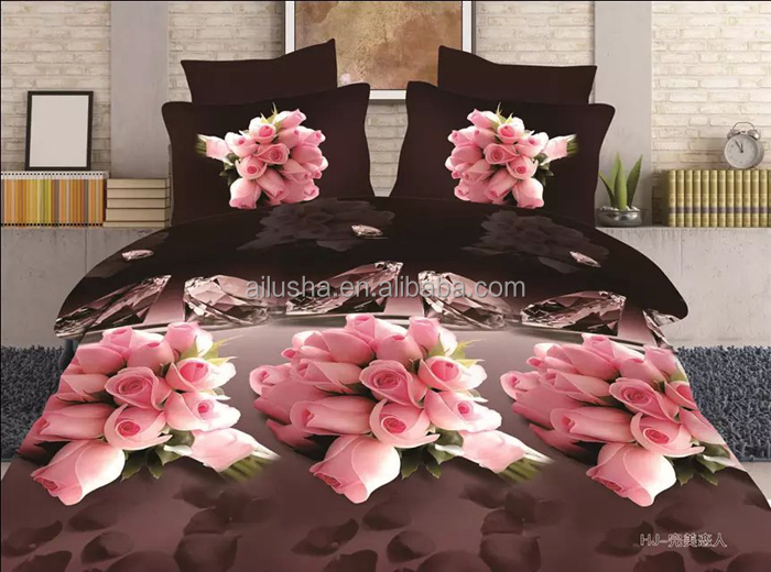 600 fils au pouce queen 3d literie h tel couette drap de lit de mariage literie id de produit. Black Bedroom Furniture Sets. Home Design Ideas