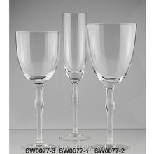 Old fashioned crystal glassware for table set