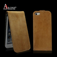 Leather custom flip case for mobile phone case for apple iphone 5s