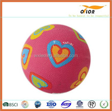 Colorful rubber professional basketball