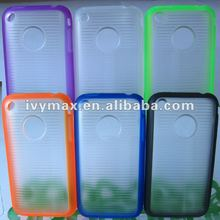 Double Color TPU+PC Skin Cover Case for iphone 3G 3GS