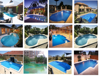 Swimming pool supply outdoor Polyester pool Prefabricated fiberglass swimming pool