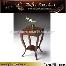 elegante salón de madera mesa de café barato lado de la mesa pft41004