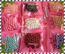 Beeann por mayor ronda 4 mm y 6 mm ABS perlas sueltas sin perforar perlas