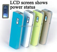 large capacity LCD screen show colorful 6600mAh power bank