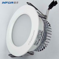 hot sale 90mm cutout size dimmable recessed led downlight interior lighting decoration