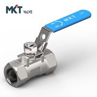 One-PC industrial Stainless Steel Medium Pressure Ball Valve