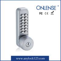 Durable sliding wooden door lock with Mechanical code keypad