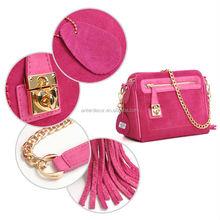 Red rose American & Europe newest fashion ladies handbags shoulder bag 2014