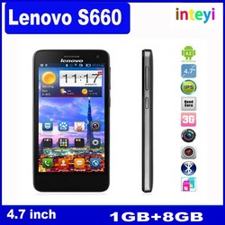 "Original Lenovo S660 S668T MTK6582 Quad Core 3G Smartphone 4.7"" IPS QHD Screen 8G Rom Android 4.2 WCMDA GPS 8.0MP"