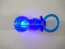 New develop LED light Glow In Dark kick fetch pet chew toys TPR material