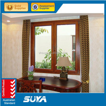 SUYA aluminum wood window grills design pictures and aluminum sliding windows with AS2047 Standard