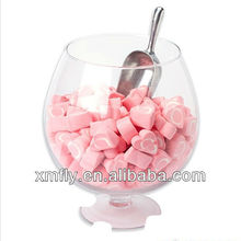 bulk promotional heart shape designed pink and white mixed heart shaped candy floss
