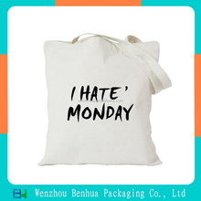 Customizable convenient blank canvas recyclable shopping cotton bag