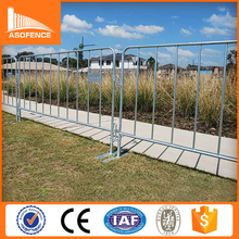 China factory 2.2m length 1.1m height silver spray painted Removable Metal Car Parking Barrier