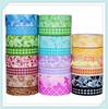 Flower dots cartoon washi masking tape,adhesive decoration Japan paper tapes
