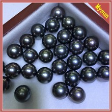 13-14MM Christmas gift peacock black Tahitian pearls