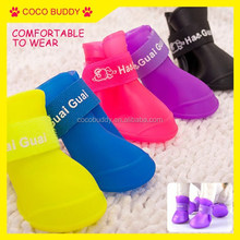 Candy Color Antiskid Waterproof Rain Boots for Dog Pet