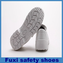 ladies high heel white safety shoes