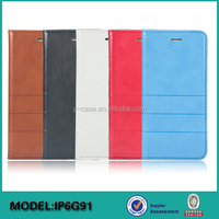 Hot Selling Wallet Stand Leather Mobile Phone Case for iPhone 6 or iPhone 6 plus cover case