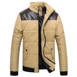 Plus size men outwear 2015 winter and autumn parka patchwork down jacket