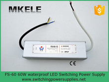 FS-60-12 ac dc led power supply 12v 60w led driver waterproof ip67 professional