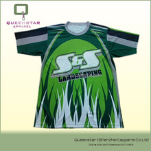 custom sublimated t shirt,landscaping printed,3d printed
