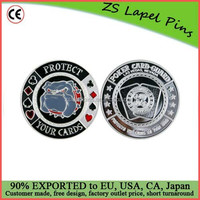 Protect Poker Card Guard Protector Silver/ Metal Poker Guards