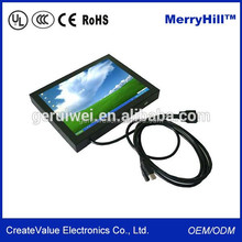 Small Size DC 12V 7 Inch 10 Inch LCD Video Monitor With Component RCA Video Input