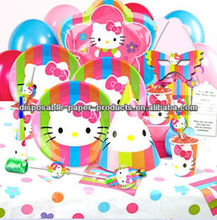 Themed Girls Birthday Party Supplies & Decorations Hello Kitty Birthday Party Supplies Balloon LootBag Fork Cup Napkin Banner