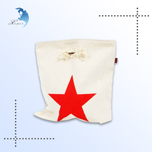 2014 Top class popular fashion unique style custom brand logo printed canvas tote bag with a red star