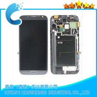 For Samsung Galaxy Note 2 LCD N7100 Grey Display Touch Screen LCD Digitizer with Frame Assembly Replacement
