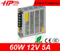 High quality Guangzhou factory hot selling switching mode power supply cctv camera 60w 12v led driver metal case