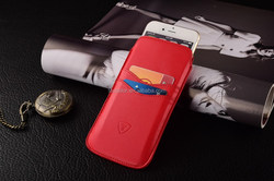 Red Slip pouch case, PU leather cell phone case, for iphone 6